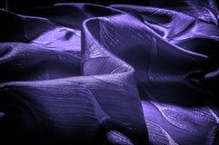 Σύσταση, υπόβαθρο, σχέδιο μπλε χρώμα υφασμάτων μεταξιού Διακοσμήστε yo στοκ εικόνες