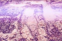 Σύσταση, υπόβαθρο, σχέδιο Ραγισμένη γη, άργιλος Αφηρημένο natu Στοκ φωτογραφία με δικαίωμα ελεύθερης χρήσης