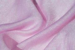 Σύσταση, υπόβαθρο, σχέδιο Ροζ μεταξιού υφασμάτων Αγγλικό ρόδινο fabr Στοκ φωτογραφία με δικαίωμα ελεύθερης χρήσης