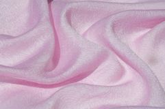 Σύσταση, υπόβαθρο, σχέδιο Ροζ μεταξιού υφασμάτων Αγγλικό ρόδινο fabr Στοκ Εικόνα