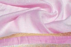 Σύσταση, υπόβαθρο, σχέδιο Ροζ μεταξιού υφασμάτων Αγγλικό ρόδινο fabr Στοκ φωτογραφίες με δικαίωμα ελεύθερης χρήσης