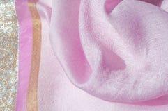 Σύσταση, υπόβαθρο, σχέδιο Ροζ μεταξιού υφασμάτων Αγγλικό ρόδινο fabr Στοκ εικόνα με δικαίωμα ελεύθερης χρήσης