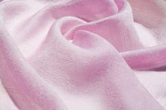 Σύσταση, υπόβαθρο, σχέδιο Ροζ μεταξιού υφασμάτων Αγγλικό ρόδινο fabr Στοκ εικόνες με δικαίωμα ελεύθερης χρήσης