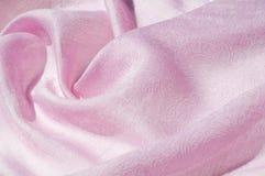 Σύσταση, υπόβαθρο, σχέδιο Ροζ μεταξιού υφασμάτων Αγγλικό ρόδινο fabr Στοκ Φωτογραφία