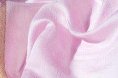 Σύσταση, υπόβαθρο, σχέδιο Ροζ μεταξιού υφασμάτων Αγγλικό ρόδινο fabr Στοκ Φωτογραφίες