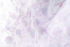 Σύσταση, υπόβαθρο, σχέδιο Ρόδινη δαντέλλα στο άσπρο υπόβαθρο καρφίτσα στοκ φωτογραφία