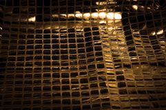 Σύσταση, υπόβαθρο, σχέδιο Ύφασμα τα μεγάλα paillettes που γίνονται με Στοκ Εικόνες