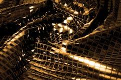 Σύσταση, υπόβαθρο, σχέδιο Ύφασμα τα μεγάλα paillettes που γίνονται με Στοκ Φωτογραφία