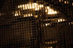 Σύσταση, υπόβαθρο, σχέδιο Ύφασμα τα μεγάλα paillettes που γίνονται με Στοκ φωτογραφίες με δικαίωμα ελεύθερης χρήσης