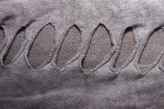 σύσταση υφάσματος βαμβακιού με τις αυλακώσεις με τις τρύπες για το υπόβαθρο α Στοκ εικόνες με δικαίωμα ελεύθερης χρήσης