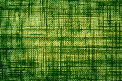 Σύσταση υφασμάτων ινών κάνναβης στο πράσινο χρώμα με αναδρομικά φωτισμένο Στοκ Εικόνα