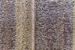 Σύσταση φύλλων αλουμινίου Στοκ Φωτογραφία