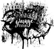 Σύσταση χρωμάτων Splatter Ανασκόπηση Grunge Μαύρος λεκές του μελανιού τοποθετήστε το κείμενο Βρώμικο κολόβωμα επίδρασης επίσης co Στοκ Εικόνες