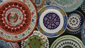 Σύσταση, χρωματισμένα πιάτα Στοκ Εικόνες