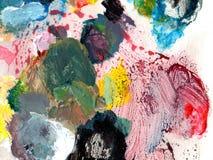 Σύσταση χρώματος ελαιογραφίας Στοκ Φωτογραφίες