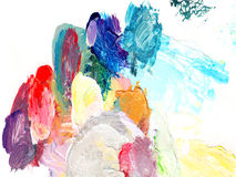 Σύσταση χρώματος ελαιογραφίας Στοκ φωτογραφία με δικαίωμα ελεύθερης χρήσης