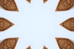 Σύσταση ύφανσης πλαισίων μπαμπού στο άσπρο υπόβαθρο, στοκ εικόνες με δικαίωμα ελεύθερης χρήσης