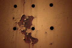 Σύσταση Grunge με τη σκουριά και τις τρύπες Στοκ Εικόνες