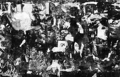 Σύσταση Grunge Ragged έγγραφο για τον τοίχο Γραπτή εικόνα Στοκ Εικόνες