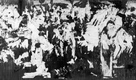 Σύσταση Grunge Ragged έγγραφο για τον τοίχο Γραπτή εικόνα Στοκ εικόνα με δικαίωμα ελεύθερης χρήσης