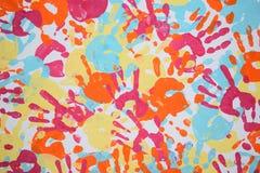 Σύσταση handprint Στοκ Εικόνες
