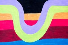 Σύσταση Llustrator με τις ζωηρόχρωμα λουρίδες και τα κύματα ελεύθερη απεικόνιση δικαιώματος