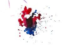 Σύσταση Watercolor των λεκέδων Στοκ Εικόνα