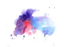 Σύσταση Watercolor των λεκέδων Στοκ φωτογραφία με δικαίωμα ελεύθερης χρήσης