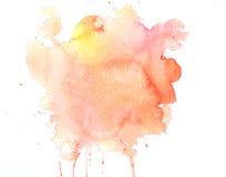 Σύσταση Watercolor των λεκέδων Στοκ Φωτογραφίες