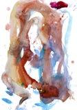 Σύσταση Watercolour φωτεινοί καφετής και μπλε διανυσματική απεικόνιση