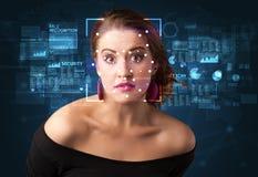Σύστημα αναγνώρισης προσώπου στοκ φωτογραφία με δικαίωμα ελεύθερης χρήσης