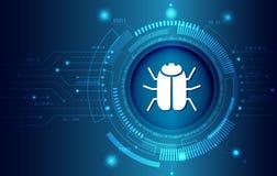 Σύστημα ασφαλείας δεδομένων, πληροφορίες ή προστασία δικτύων Ασφάλεια και προστασία δεδομένων Cyber διανυσματική απεικόνιση