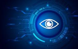 Σύστημα ασφαλείας δεδομένων, πληροφορίες ή προστασία δικτύων διανυσματική απεικόνιση