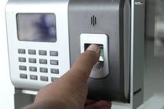 Σύστημα ασφαλείας ανίχνευσης δάχτυλων Στοκ Φωτογραφίες
