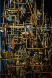 Σύστημα επικέντρων με τους φραγμούς, cogwheels και τα εργαλεία μετάλλων μηχανισμός Στοκ φωτογραφία με δικαίωμα ελεύθερης χρήσης