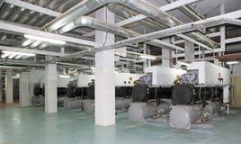 Σύστημα ηλεκτρικής παραγωγής για το εμπορικό κέντρο, περιοχές εργοστασίων και διαβίωσης Στοκ φωτογραφίες με δικαίωμα ελεύθερης χρήσης