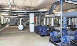 Σύστημα ηλεκτρικής παραγωγής για το εμπορικό κέντρο, περιοχές εργοστασίων και διαβίωσης Στοκ Εικόνες