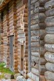 Σύστημα κούτσουρων στο μουσείο της ρωσικής ξύλινης αρχιτεκτονικής Στοκ φωτογραφία με δικαίωμα ελεύθερης χρήσης