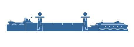 Σύστημα κλειδαριών νερού Στοκ Εικόνα