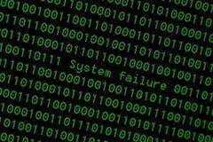 Σύστημα 01 που χαράσσεται δυαδικό cyber διανυσματική απεικόνιση