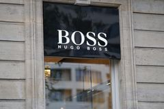 Σύστημα σηματοδότησης της Hugo Boss Στοκ Εικόνες