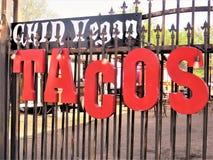 Σύστημα σηματοδότησης, φραγμός taco στοκ εικόνες με δικαίωμα ελεύθερης χρήσης