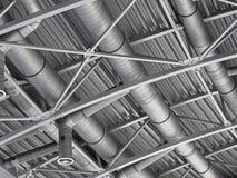 Σύστημα σωλήνων εξαερισμού αέρα αγωγών Hvac Στοκ Εικόνα