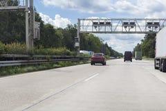 Σύστημα φόρου φορτηγών στοκ φωτογραφία