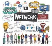Σύστημα Conce τεχνολογίας σύνδεσης παγκόσμιων επικοινωνιών δικτύων Στοκ εικόνες με δικαίωμα ελεύθερης χρήσης