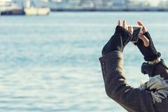 Σύλληψη της στιγμής στις διακοπές Στοκ Εικόνα