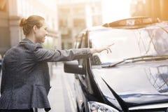 Σύλληψη του ταξί Στοκ Εικόνες