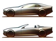 Σώμα αυτοκινήτων Coupe και ανοικτό αυτοκίνητο Ελεύθερη απεικόνιση δικαιώματος