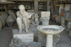 Σώμα της Πομπηίας χυτό Στοκ εικόνες με δικαίωμα ελεύθερης χρήσης