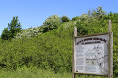 Σλαβικός τοίχος φρουρίων, Kap Arkona, νησί Ruegen Στοκ Εικόνα